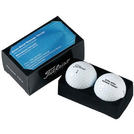 Company Titleist 2 Ball Business Card Box