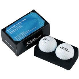 Company Titleist 2 Ball Business Card Box