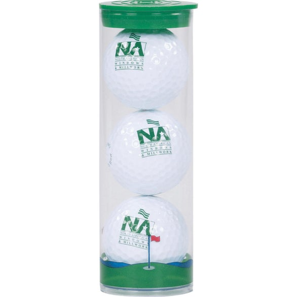 Clear / Green Titleist DT TruSoft Golf Balls in Clear Tube
