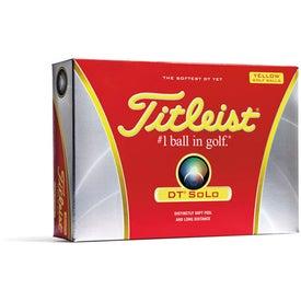 Titleist DT SoLo Yellow Golf Balls (Standard Service)