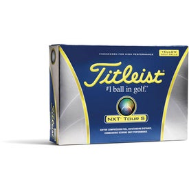 Advertising Titleist NXT Tour S Yellow Golf Balls