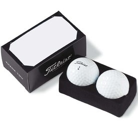 Titleist DT Solo 2-Ball Business Card Pack Printed with Your Logo
