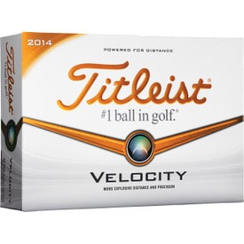 Titleist Velocity Factory Direct Golf Ball Branded with Your Logo