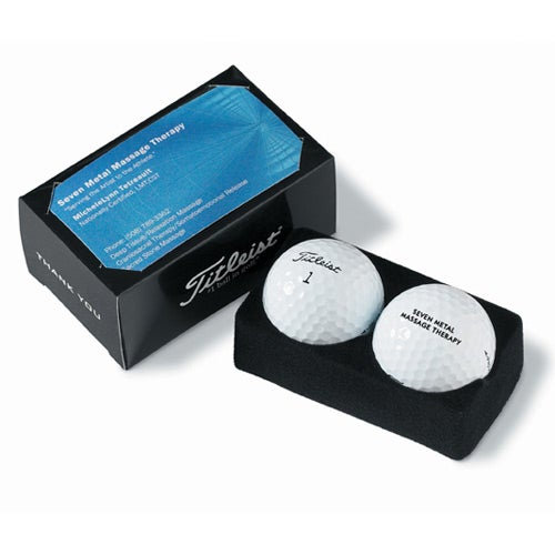 Promotional titleist pro v1 2 ball business card packs with custom titleist pro v1 2 ball business card pack colourmoves Image collections