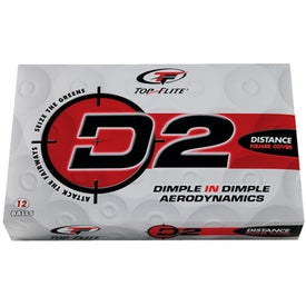 Monogrammed Top-Flite D2 Distance Golf Ball