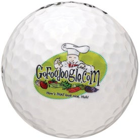 White Golf Ball Imprinted with Your Logo