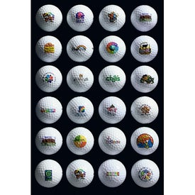 White Golf Ball Branded with Your Logo