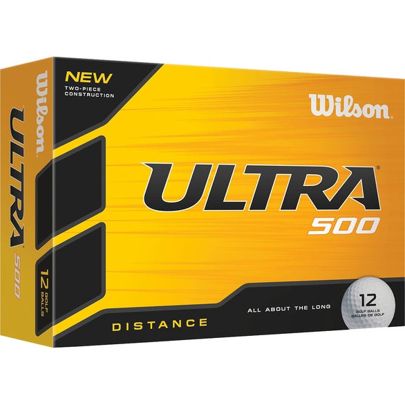 White Wilson Ultra 500 Distance Golf Balls