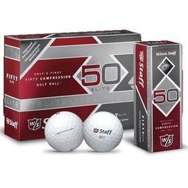 "Wilson ""Staff 50"" Golf Balls for Customization"