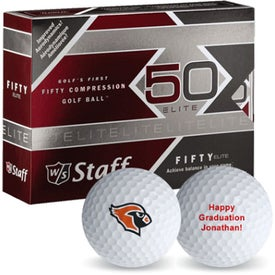 "Wilson ""Staff 50"" Golf Balls Imprinted with Your Logo"