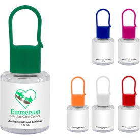 Hand Sanitizer with Carabiner Cap (1 Oz.)
