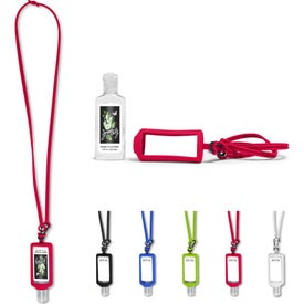 Hand Sanitizer With Silicone Lanyard and Holders (1 Oz.)