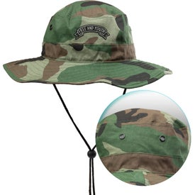 Foldable Cotton Bucket Hats with Drawcord