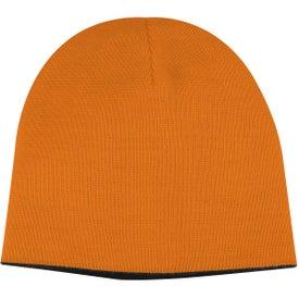 Printed 2-Tone Knit Cap