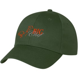 6 Panel Polyester Cap Printed with Your Logo