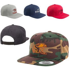 Adult 6-Panel Structured Flat Visor Snapback Cap