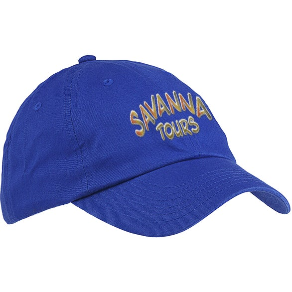 Royal Blue Big Accessories 6-Panel Brushed Twill Unstructured Cap