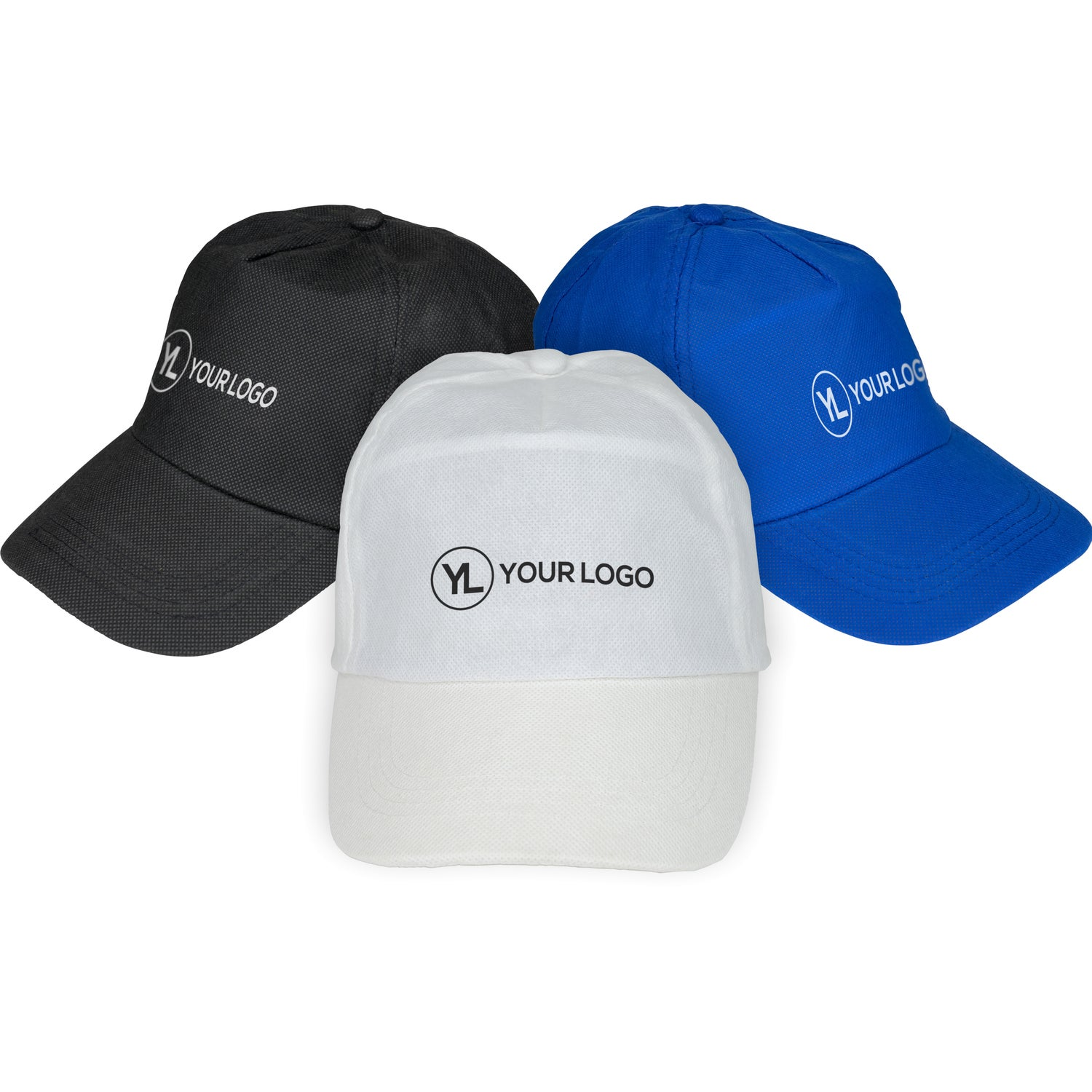 6932aba84e4f9 CLICK HERE to Order Budget Saver Non-Woven Caps Printed with Your ...