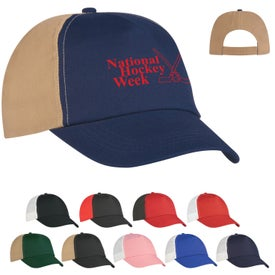 Budget Saver Non-Woven Two-Tone Cap Branded with Your Logo
