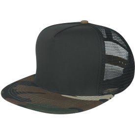 Camo Flatbill Cap (Unisex, Embroidered)