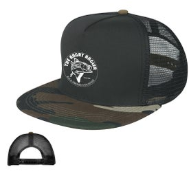 Camo Flatbill Cap (Unisex, Screen Print)