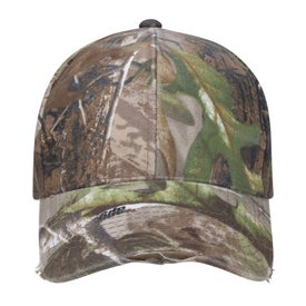 Camo Distressed Cap for Marketing