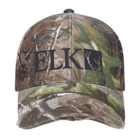 Camo Distressed Cap