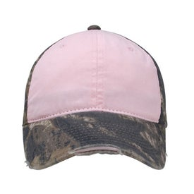 Camo Ladies Distressed Cap for Your Organization
