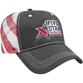 Cap America Flag Mesh Back Cap (Unisex)