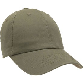 Unconstructed Chino Washed Cotton Twill Cap Printed with Your Logo