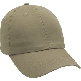 Unconstructed Chino Washed Cotton Twill Cap Imprinted with Your Logo