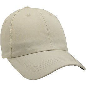 Imprinted Unconstructed Chino Washed Cotton Twill Cap