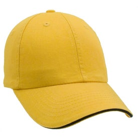 Unconstructed Chino Washed Sandwich Cap for Marketing