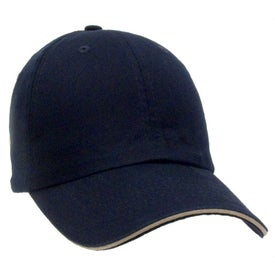 Unconstructed Chino Washed Sandwich Cap with Your Slogan