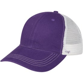 Contrast Stitch Mesh Back Cap (Unisex)