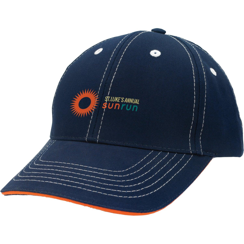Contrasting Stitch Cap   Custom Baseball Hats   5.41 Ea.  Stitch Cap