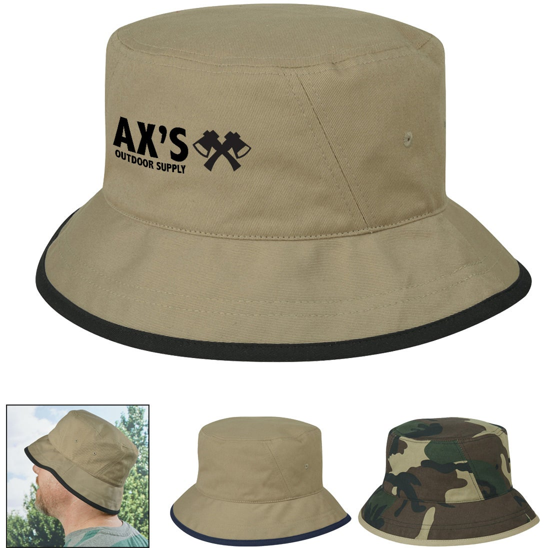 4bcc4961abe Promotional Cotton Twill Bucket Hats with Custom Logo for  8.39 Ea.