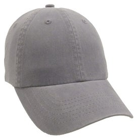 Imprinted Unconstructed Deluxe Cotton Washed Brushed Cap