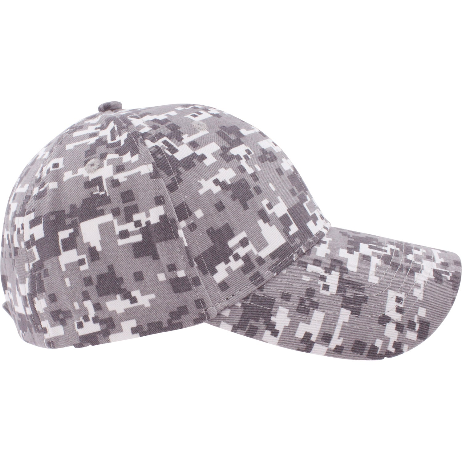 digital camo structured baseball cap branded with your logo