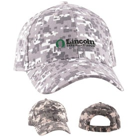 Digital Camo Structured Baseball Cap