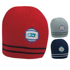 Double Stripe Beanie for Marketing