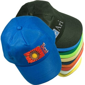 promotional econo value caps with custom logo for 119 ea