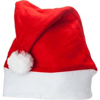 Promotional Felt Santa Hats with Custom Logo for 128 Ea