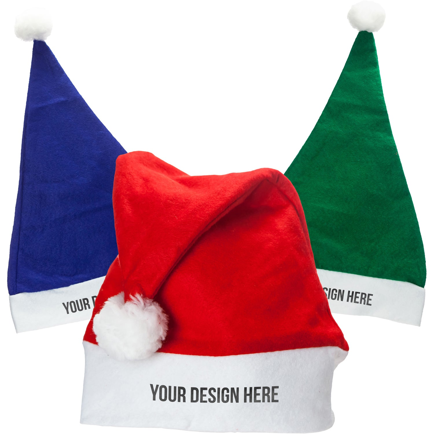 0e4cdc07f98080 CLICK HERE to Order Felt Santa Hats Printed with Your Logo for $1.76 ...