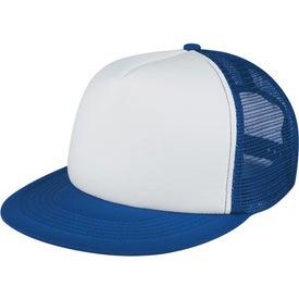 Branded Flat Bill Trucker Cap