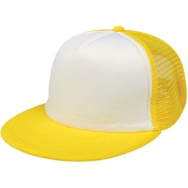 Flat Bill Trucker Cap Branded with Your Logo
