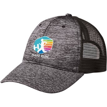 9f9ac6221 CLICK HERE to Order Heathered Jersey Mesh Back Caps Printed with ...