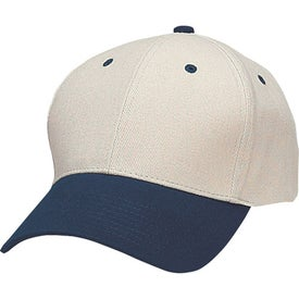 Branded Heavy Brushed Cotton Twill Cap