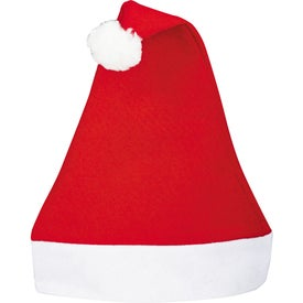Holiday Santa Hat with Your Slogan