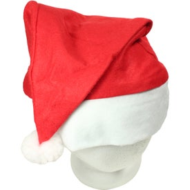 Holiday Santa Hat Printed with Your Logo